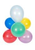 Ballons die op witte achtergrond worden geïsoleerde Stock Foto's