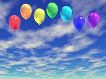 Ballons do arco-íris Ilustração Stock