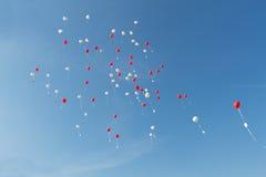 Ballons do coração Foto de Stock