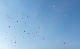Ballons do coração Imagens de Stock Royalty Free