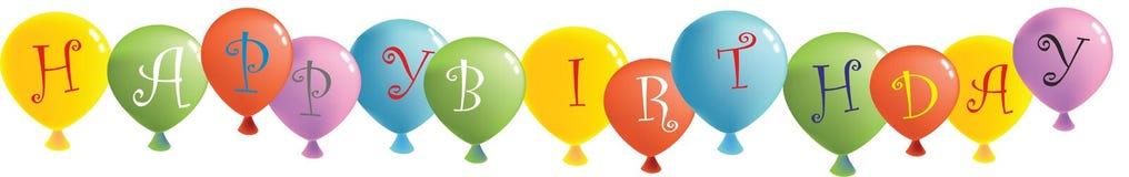 Ballons do feliz aniversario Foto de Stock