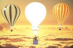 Ballons du concept trois d'idée Image stock