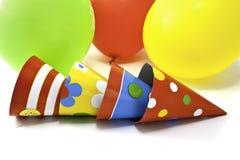 Ballons e cabanas da festa de anos Fotos de Stock Royalty Free
