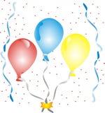 Ballons e confetti Imagem de Stock Royalty Free
