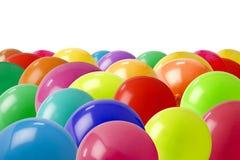 Ballons en bas de photo image stock