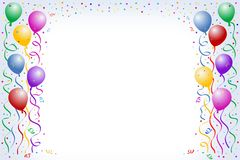 Ballons en confettien Vector Illustratie