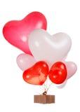 Ballons en forme de coeur Photo libre de droits