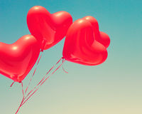 Ballons en forme de coeur rouges Photo libre de droits
