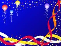 Ballons en linten Royalty-vrije Stock Afbeelding