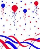 Ballons en linten stock illustratie