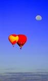 Ballons en Maan Stock Foto