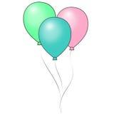 Ballons en pastel brillants Image libre de droits