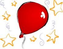 Ballons en sterren royalty-vrije illustratie