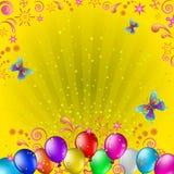 Ballons en vlinders vector illustratie