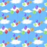 Ballons en wolken Royalty-vrije Stock Foto's