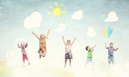 Ballons espiègles de crochet d'enfants Photo libre de droits