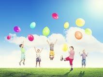 Ballons espiègles de crochet d'enfants Photos libres de droits