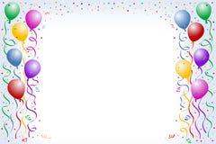 Ballons et confettis illustration de vecteur