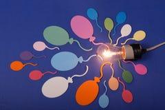 Ballons et lampe Photographie stock