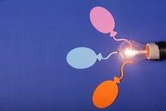 Ballons et lampe Image libre de droits