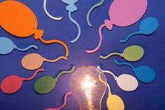 Ballons et lampe Photos libres de droits