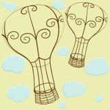 Ballons et nuages illustration stock