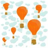 Ballons et nuages illustration de vecteur