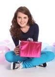 Ballons et présent de réception pour la fille d'adolescent Image stock
