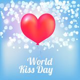 Ballons för världskyssdag stock illustrationer