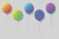 Ballons. This is file of EPS8 format Royalty Free Stock Photo