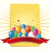 ballons, fond de célébration Photographie stock