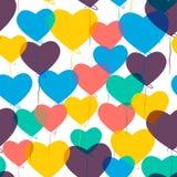 Ballons in Form eines Herzens Stockbilder