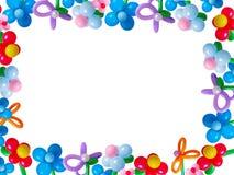 Ballons getrennt auf Weiß Stockfoto