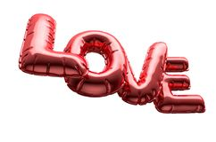 Ballons gonflables d'amour Photo stock