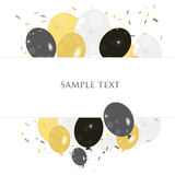 Ballons greeting with confetti vector Royalty Free Stock Photo