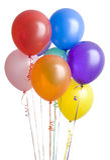 ballons grupperar white arkivfoto