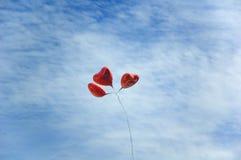 Ballons in hemel stock fotografie