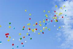Ballons in hemel Stock Afbeeldingen