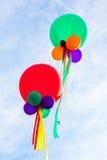 Ballons in hemel Royalty-vrije Stock Fotografie