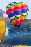 Ballons in hemel, Ballonfestival, Internationale de Ballonfiesta 2017 van Singhapark Stock Afbeelding