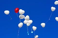 Ballons im Himmel Stockbilder