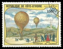 Ballons, Koerier Transport royalty-vrije stock foto