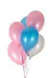 Ballons in koorden royalty-vrije stock afbeelding