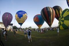 ballons lanserar klart arkivbild