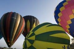 ballons lanserar klart arkivbilder