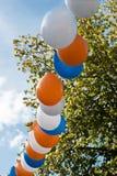 Ballons in lijn. Royalty-vrije Stock Afbeeldingen