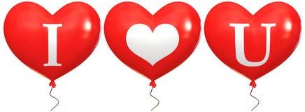 Ballons met de woorden Stock Foto's
