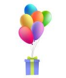 Ballons met een gift Vector Vector Illustratie