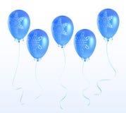 Ballons met een Kerstmisornament Royalty-vrije Illustratie