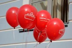 Ballons met het adverterende bedrijf Viking Line Royalty-vrije Stock Afbeelding